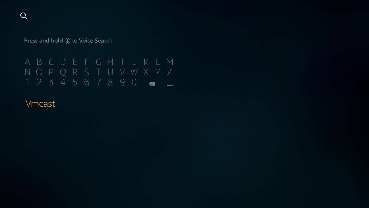 The Amazon search screen shows a software keyboard in the left hand corder of the display.