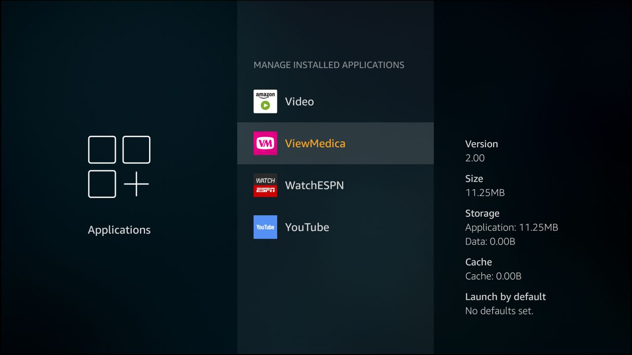 VMcast app preferences are cleared from the settings panel.